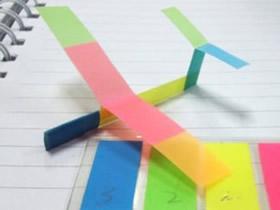 怎么做便签纸飞机的方法 便签纸手工制作飞机