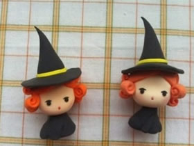 怎么做粘土女巫的教程 超轻粘土制作女巫人偶