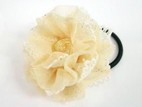 怎么做蕾丝花头绳图解 蕾丝手工制作花朵头绳