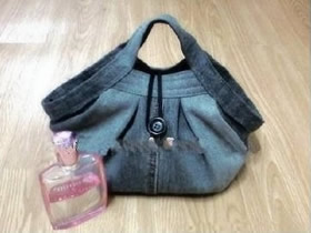 牛仔裤如何改造手提包 手工制作牛仔布包包