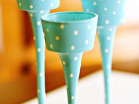 怎么做玻璃装饰品图片 高脚玻璃杯制作装饰品