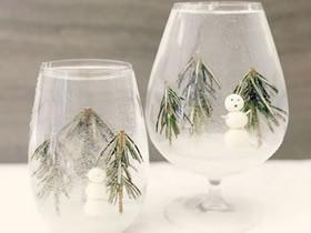 怎么做雪景装饰杯方法 冬天雪景装饰摆件制作