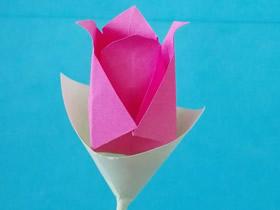儿童怎么做玫瑰花图解 简单彩纸玫瑰花制作
