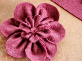 怎么做不织布樱花图解 手工布艺樱花制作方法