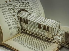 旧书变废为宝的做法 变成精致纸模型和纸雕