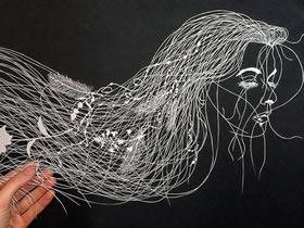 仿佛有生命的平面纸雕 手工平面纸雕作品做法