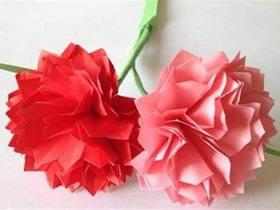 怎么折纸康乃馨的方法 儿童康乃馨折法图解