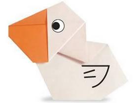 怎么折纸鹈鹕的图解 儿童折鹈鹕的折法教程