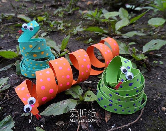 如何制作复活节彩蛋_卷纸芯如何做小蛇图解 幼儿手工制作小蛇教程_爱折纸网