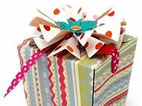怎么做方形礼品盒子 折纸漂亮礼品盒展开图