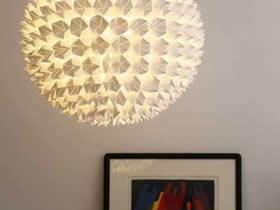 东南西北折纸做灯罩 创意手工折纸灯罩图片