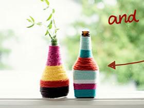 如何把酱油瓶做成花瓶 酱油瓶花瓶手工制作