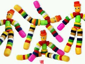瓶盖怎么做玩具小人 关节可以动玩具人偶制作
