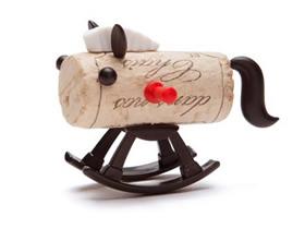 红酒瓶塞废物利用 小配件让它变身人偶和动物