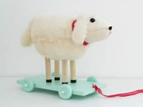 怎么做儿童牵引玩具 木板车玩具手工制作图解
