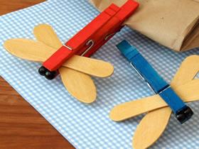 幼儿怎么做蜻蜓教程 冰棍棒手工制作蜻蜓图解