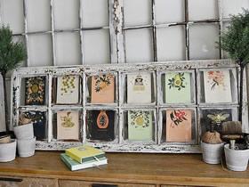旧窗框怎么改造利用 手工制作怀旧风日历