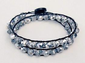 怎么编织水钻手链 串珠水钻手链的制作方法
