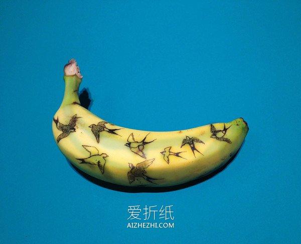 布鞋布鞋_怎么做创意香蕉皮DIY 手工香蕉皮创意图片_爱折纸网