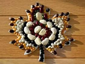 儿童豆贴画制作方法 豆子拼贴画怎么做教程
