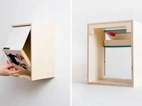 旧书怎么废物利用 拿来做成创意书柜/收纳柜