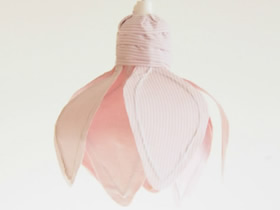 怎么做不织布灯罩 布艺手工制作花朵灯罩图解