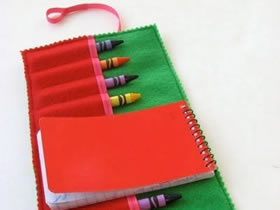 怎么做蜡笔笔袋图解 手工布艺儿童笔袋制作