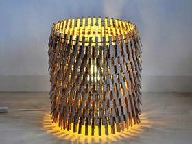木夹子怎么做灯罩图解 创意木夹子灯罩制作