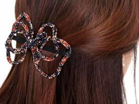 特别的蝴蝶结发卡怎么做 布艺蝴蝶结发卡制作