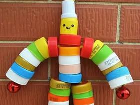 儿童瓶盖小制作怎么做 塑料瓶盖小手工图片