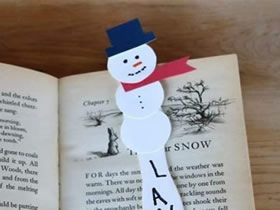 怎么做雪人书签的方法 冰棍棒制作雪人书签