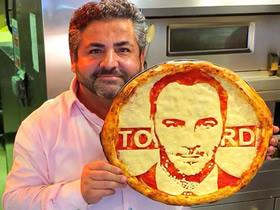 名人肖像画披萨图片 这么艺术怎么舍得食用