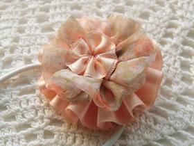 怎么做缎带花头绳图解 缎带花朵头绳手工制作