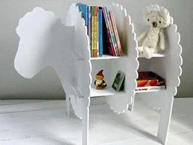 瓦楞纸书架怎么做图解 硬纸板制作绵羊书架