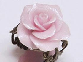 怎么做软陶玫瑰花戒指 软陶花戒指手工制作
