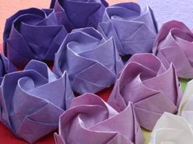 怎么折卷心玫瑰花图解 手工卷心玫瑰折法步骤