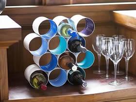 铁罐怎么做红酒架图解 自制多层酒架手工教程