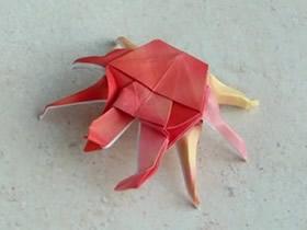怎么折纸立体螃蟹图解 螃蟹的折法详细步骤图