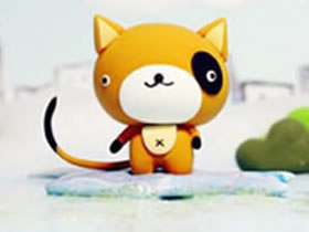 怎么做卡通粘土小猫图解 超轻粘土可爱猫制作