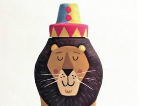瓶瓶罐罐变废为宝图片 画出可爱的小动物