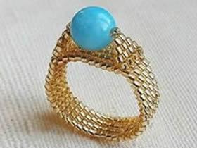怎么做串珠戒指的方法 串珠宝石戒指手工制作