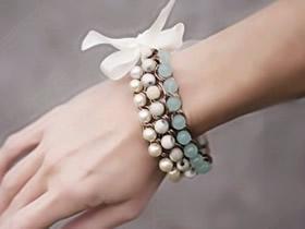 怎么做新娘手链图解 唯美串珠手链制作方法