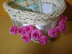 手揉纸玫瑰花怎么做 简单手工玫瑰花制作方法