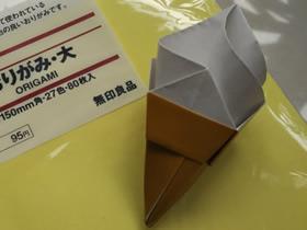 怎么折冰激凌的方法 儿童手工折纸冰激凌图解