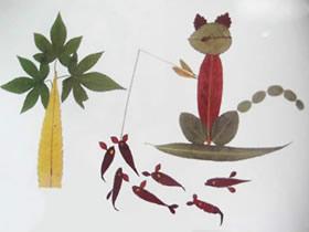 优秀的儿童树叶贴画 简单树叶制作拼贴画图片