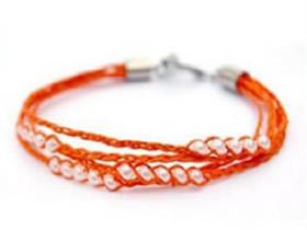 可爱串珠手链怎么编 充满活力手链的编法图解