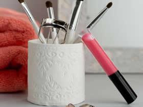 怎么做粘土收纳筒图解 超轻粘土DIY印花收纳筒