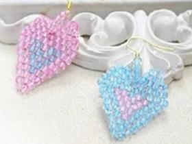 怎么做串珠爱心耳环 心形耳环串珠制作图解