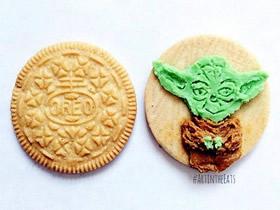 怎么玩夹心饼干的图片 饼干夹心作画的作品
