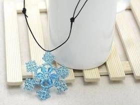 怎么做串珠雪花项链坠 漂亮雪花项链坠DIY